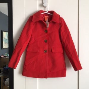 Joe Fresh Pea Coat New With Tags Size 6 (Red)